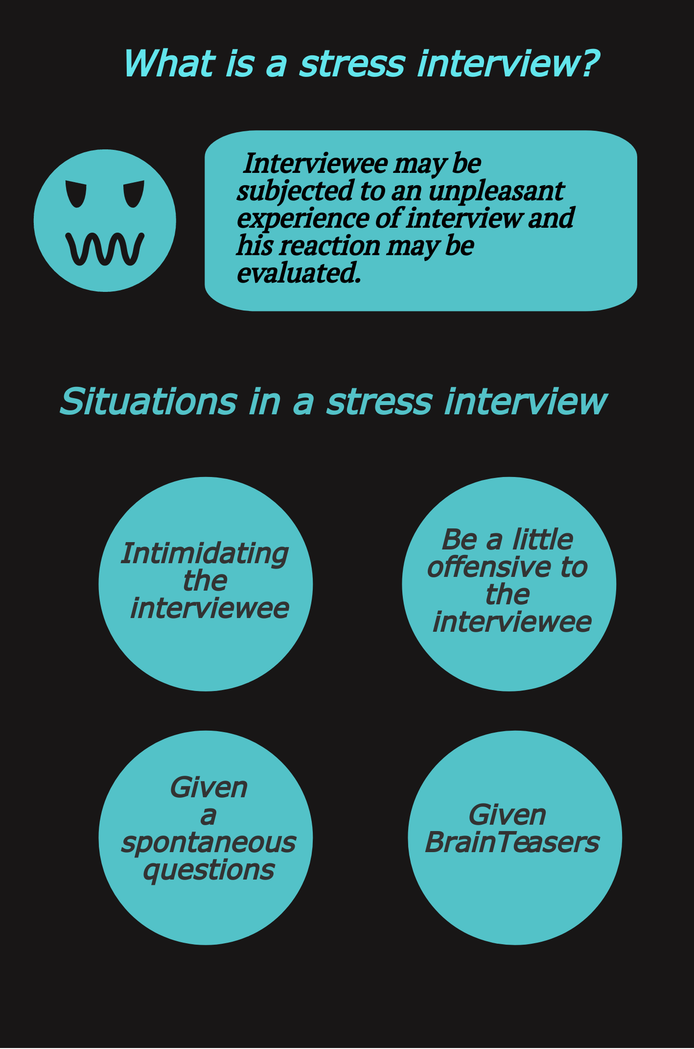 Easy tips and smart ways to answer stress interview questions